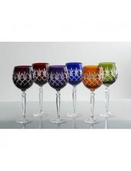 Set 6 bicchieri da vino multicolor - Judeco