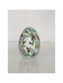 Uovo porcellana con decori Farfalle